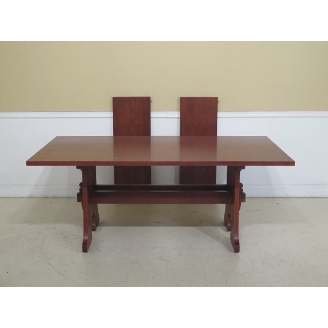 1990s Vintage Stickley Cherry Mission Style Cherry Dining Room Table For Sale - Image 12 of 12