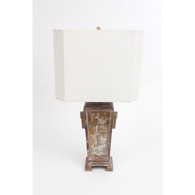 James Mont Asian Cerused Oak Lamp For Sale - Image 5 of 7