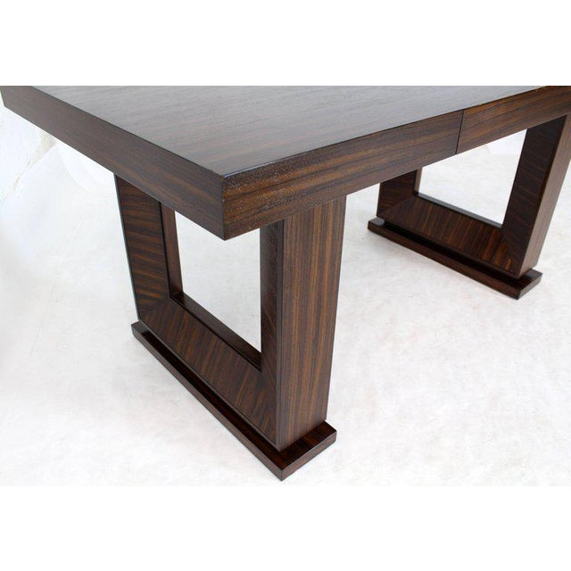 Square Frame Legs Rosewood Mid-Century Modern Writing Table Desk For Sale In New York - Image 6 of 9