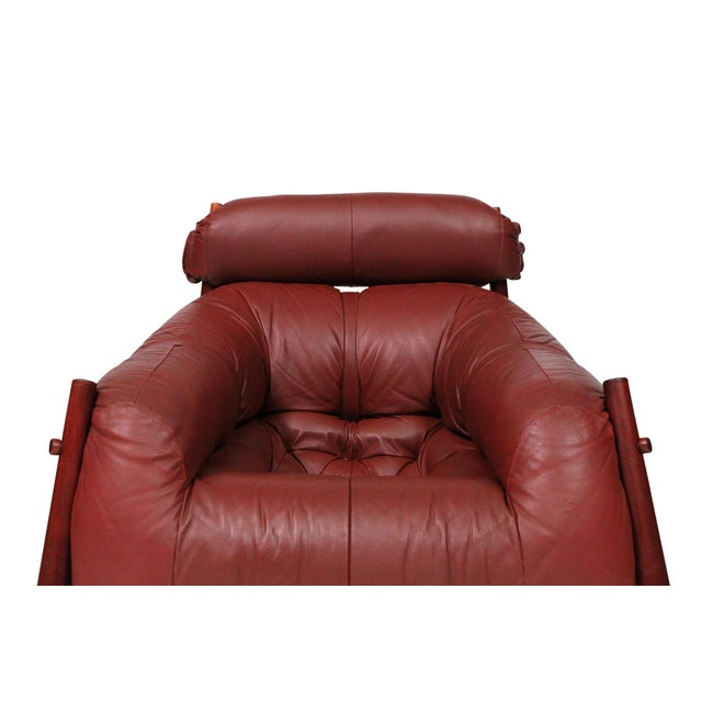 Brazilian Leather Lounge Chair by Percival Lafer For Sale In Boston - Image 6 of 13