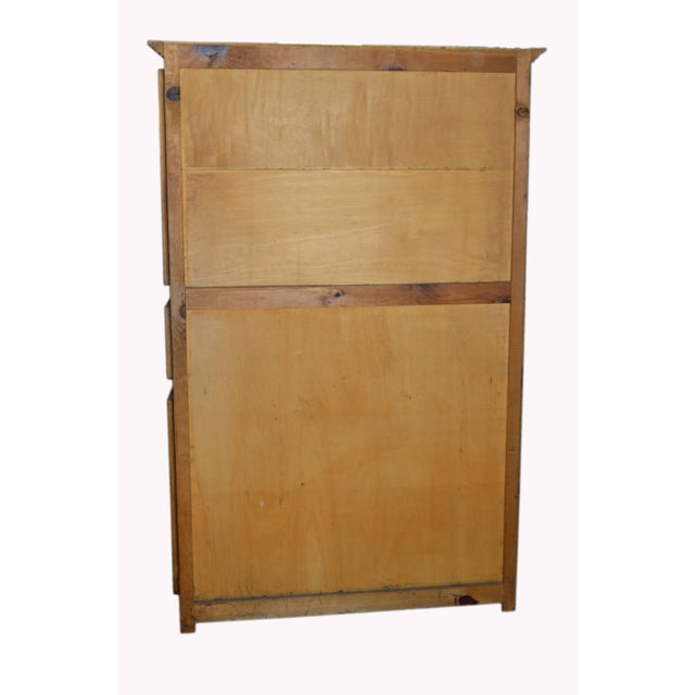 Metal Vintage Natural Wood Indonesian Armoire For Sale - Image 7 of 8