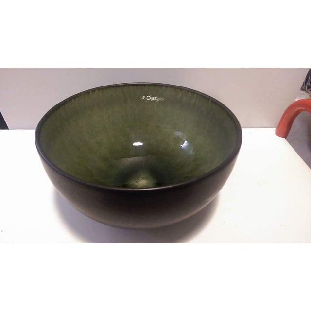 Jars France Samoa Vert Green Glazed Pottery Bowl - Image 3 of 8