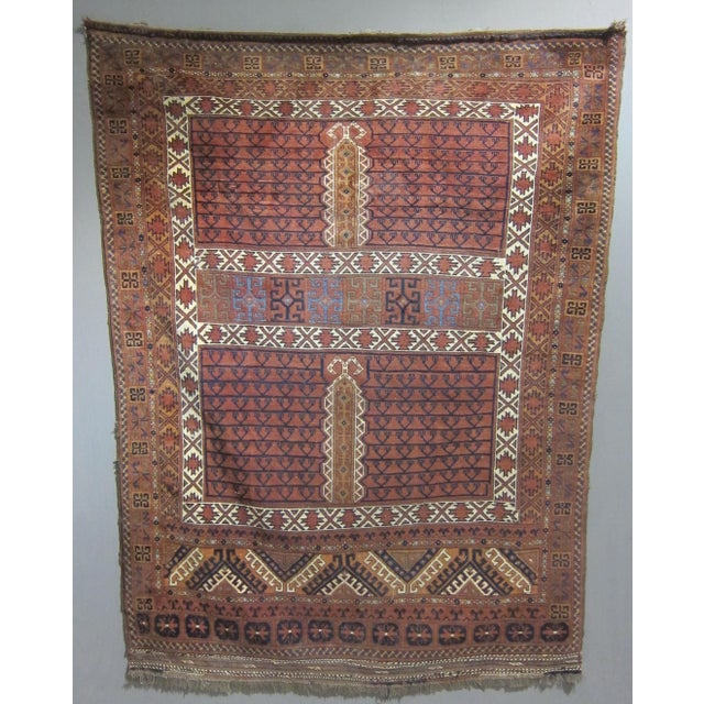 "Vintage Sarreid LTD Tribal Rug - 5' x 6'11"" - Image 3 of 6"