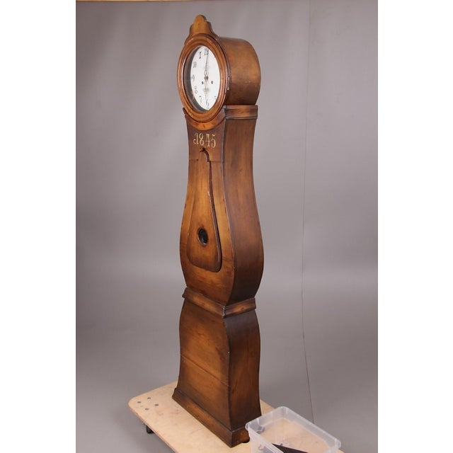 Cottage Swedish Longcase Grandfather Clock Anno 1845 For Sale - Image 3 of 12