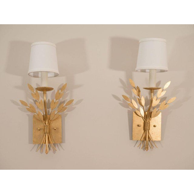 Early 21st Century Gilt Metal Sconces For Sale - Image 5 of 10