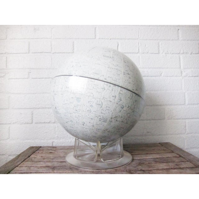 1960s Vintage Replogle Mid-Century Lunar Moon Globe For Sale - Image 5 of 10