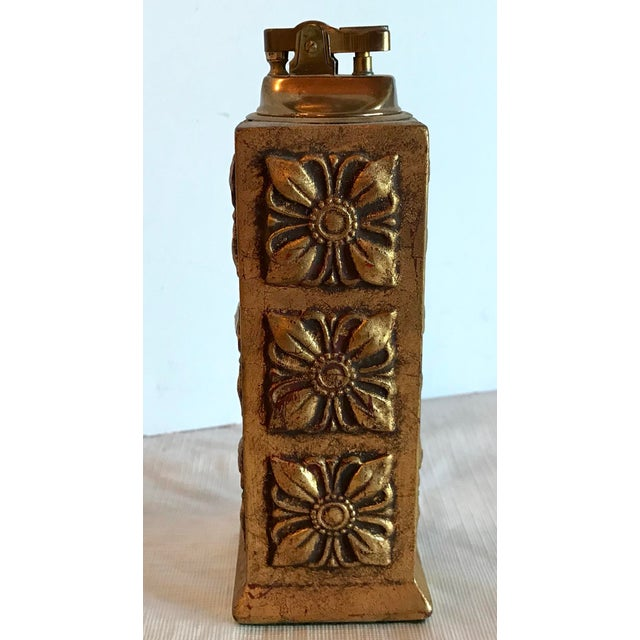 Mid 20th Century Italian Florentine Gilt Carved Wood Table Lighter For Sale - Image 5 of 8