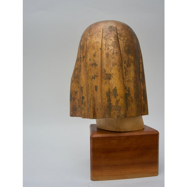 "1980s Giltwood Sculpture Titled ""Shade Mask"" by Mark Jordan 1980 For Sale - Image 5 of 11"