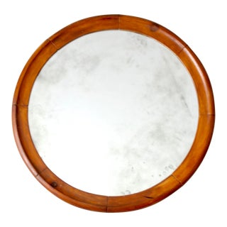 Antique Beveled Glass Mirror For Sale