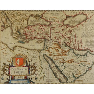 1626 Map of the Turkish Empire For Sale
