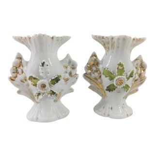 Miniature Old Paris Vases - a Pair For Sale
