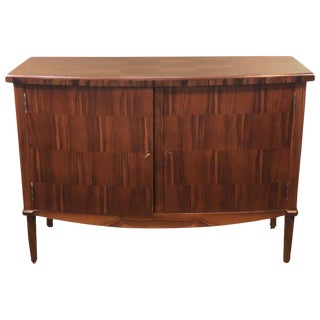 Mahogany Parquetry Inlaid Mid-Century Modern Style Commode, Chest, Cabinet For Sale