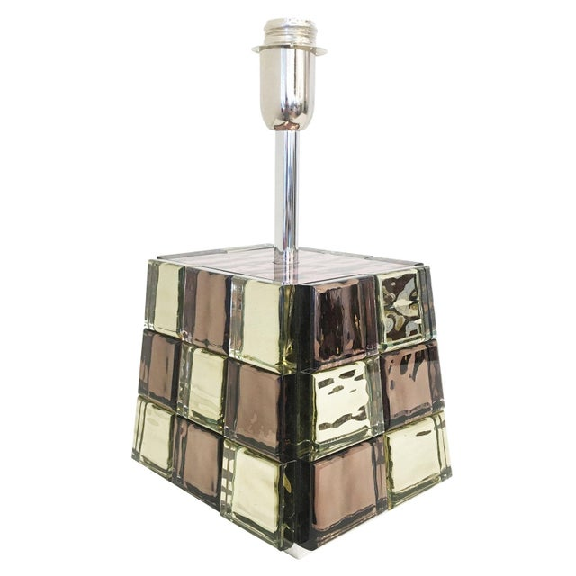 Turquoise Riflesso Table Lamp by Effetto Vetro for Gaspare Asaro For Sale - Image 8 of 11