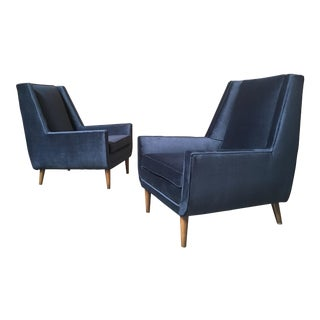 Vintage Mid-Century Modern Lounge Chairs - A Pair For Sale