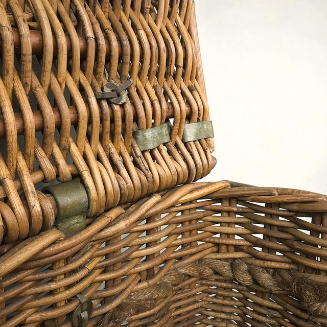 Antique Wicker Basket For Sale - Image 11 of 13