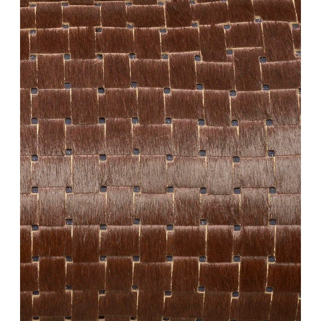 KLASP Home Contemporary Chocolate Brown Laser Cowhide Pillow For Sale - Image 4 of 6