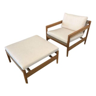 Road Teak Lounge Chair & Ottoman by Roda