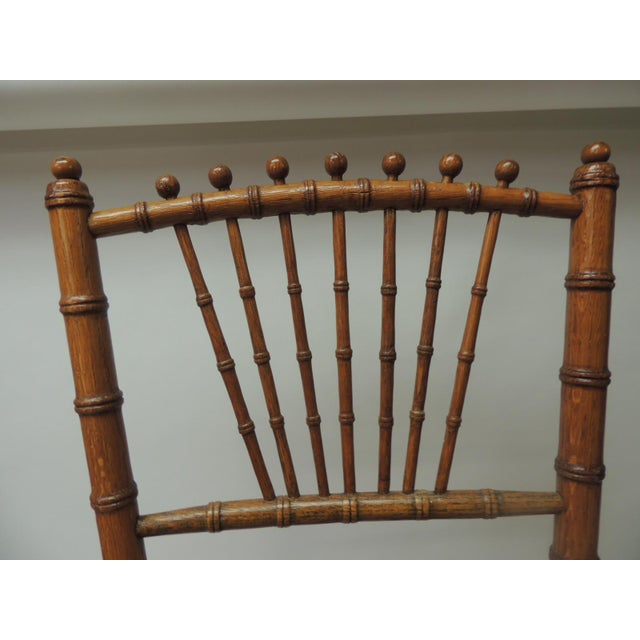 Wood 19th Century English Bamboo and Rattan Ballroom Chair For Sale - Image 7 of 9