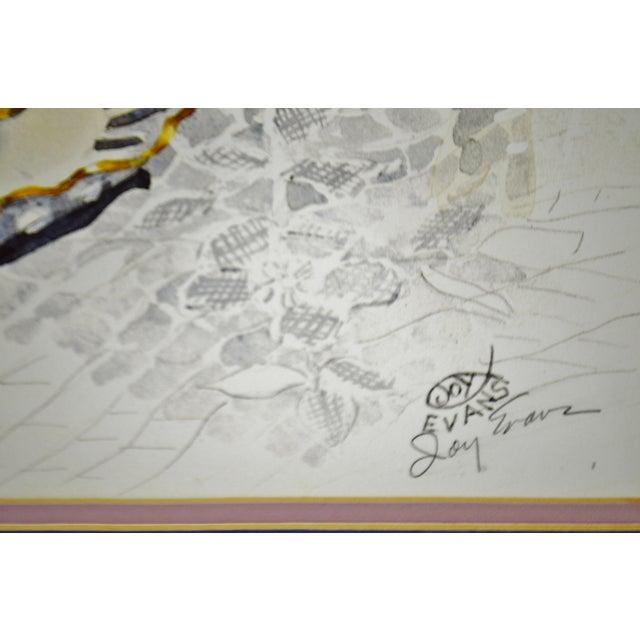 Vintage Framed Paragon Picture Gallery Joy Evans Pencil Signed ...
