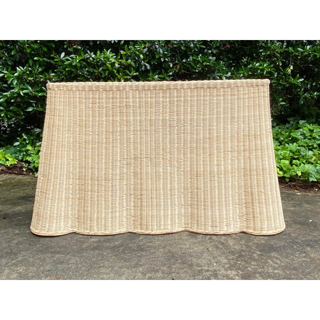 Hand woven natural rattan/wicker console table in natural finish with sturdy metal frame inside. Beautifully hand woven...