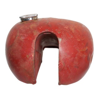 Vintage Red Metal Motorcycle Gas Tank Triumph For Sale