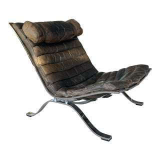 1960s Leather Ari Chair by Arne Norell For Sale
