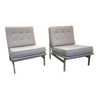 Early Florence Knoll Designed Slipper Chairs - a Pair For Sale