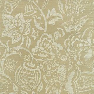Schumacher Uccello Sisal Wallpaper in Sage For Sale