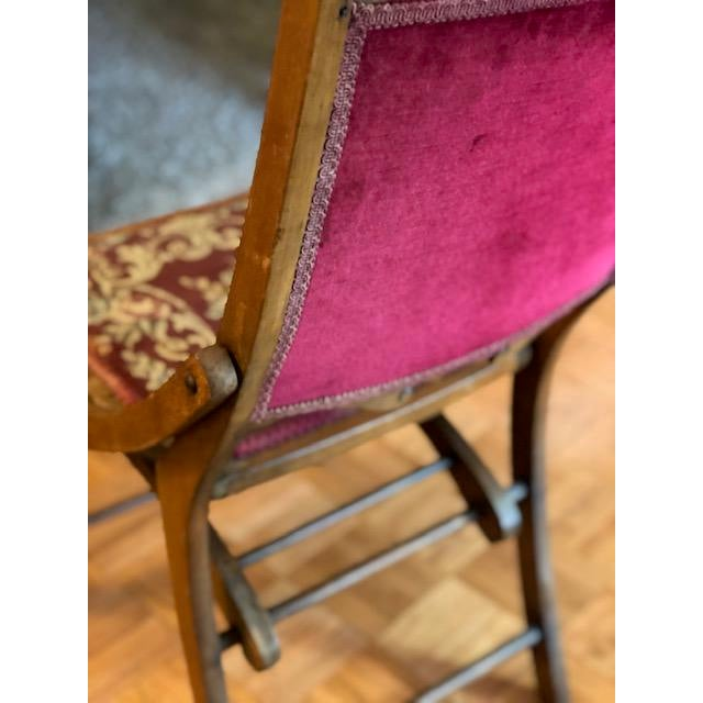 1900s Antique Victorian Tapestry Folding Chair For Sale In Los Angeles - Image 6 of 13