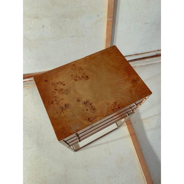 1950s 1950s Mid-Century Modern Milo Baughman Burlwood Side Table For Sale - Image 5 of 8
