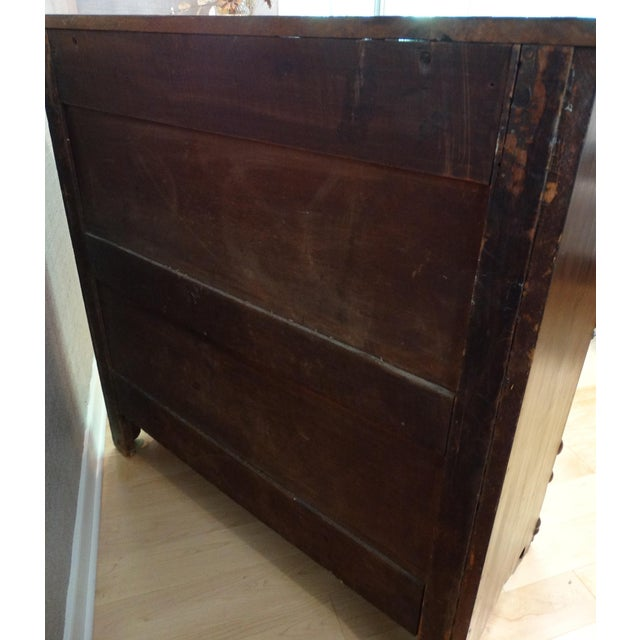 Antique 1800s 4-Drawer Mahogany Chest - Image 6 of 8