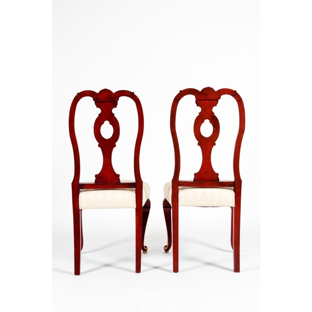 Vintage Wood Framed With Gilt Detail Side Chairs - a Pair For Sale In New York - Image 6 of 13