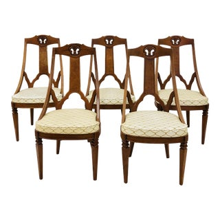 Vintage Hollywood Regency Dining Chairs For Sale