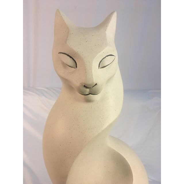 1980s 1980s Mid-Century Style Cat Sculpture For Sale - Image 5 of 7