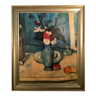 1960s Vintage Celia Buck Floral Still Life Oil on Board Painting For Sale