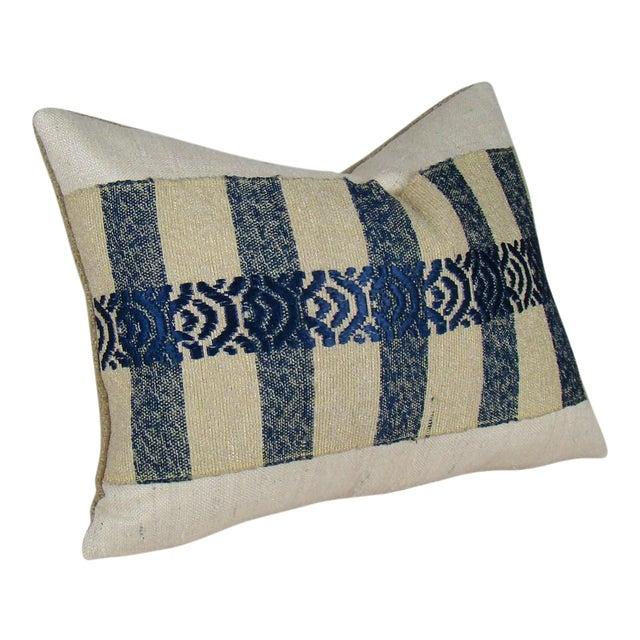 Japanese Silk Sakiori Obi Geometric Pillow Cover For Sale