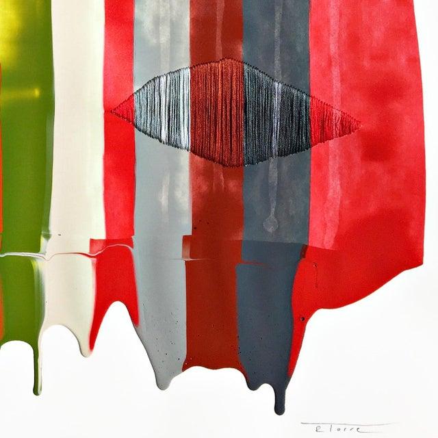 "2010s ""Fils I Colors Cccxliv"" Original Artwork by Raul De La Torre For Sale - Image 5 of 6"