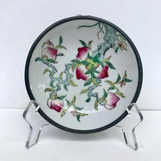 Vintage Chinese Porcelain Lucky Peaches Catchall Preview