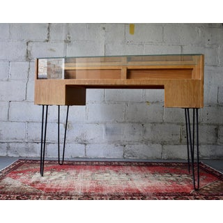 Mid Century Modern Showcase Display Case Hairpin Legs Preview