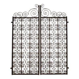 A Pair of Scrolled Forged Iron Gates from France, 1800s For Sale