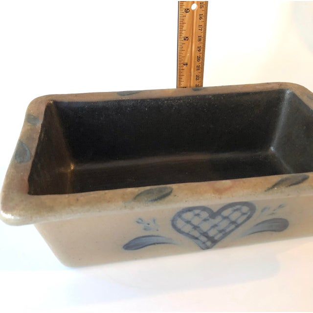 Rowe Pottery Salt Glazed Loaf Dish - Vintage Farmhouse For Sale - Image 11 of 12