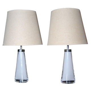 Pair of Lamps Carl Fagerlund for Orrefors For Sale