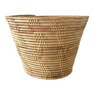 Vintage Handcrafted Basket For Sale