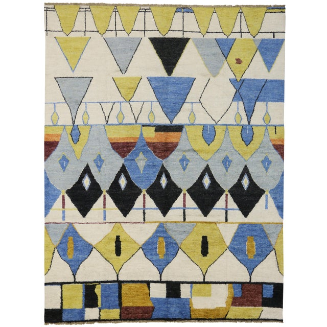 Contemporary Moroccan Style Rug with Modern Geometric Design - Image 6 of 6
