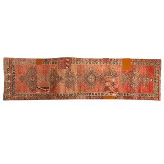 """Vintage Distressed Patchwork Oushak Rug Runner - 2'10"""" X 10'7"""" For Sale"""