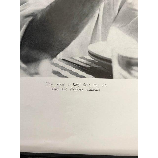 Modern Francois Raty, France, C. 1960's Artist Printed Photo 13x17 Framed For Sale - Image 3 of 4