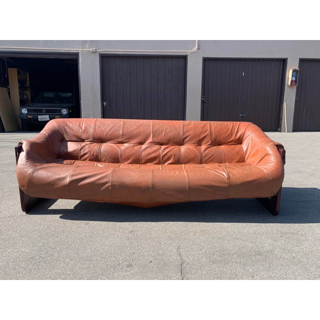 Mid-Century Percival Lafer Brazilian Leather Sofa For Sale - Image 13 of 13