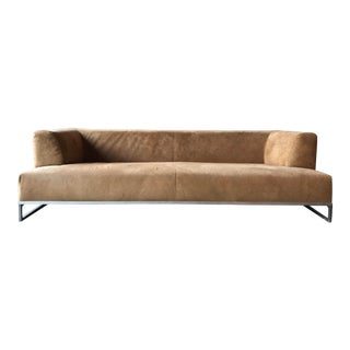 B&b Italia Maxalto 'Solo' Suede Sofa by Antonio Citterio For Sale