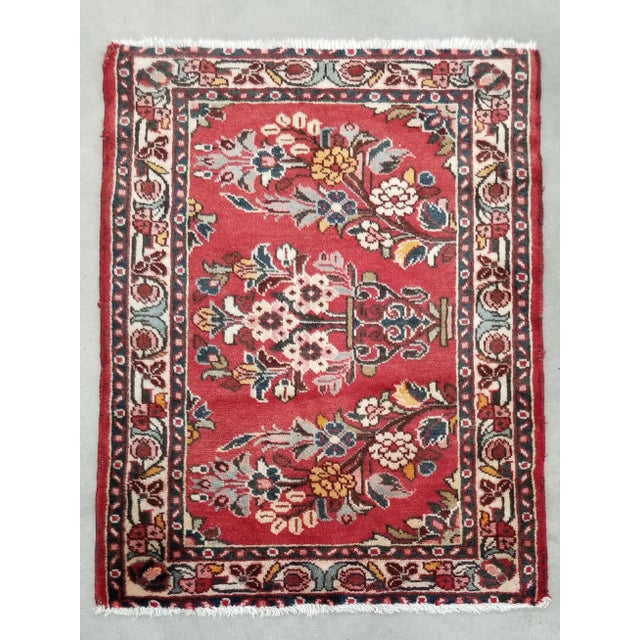 "Persian 1950s Vintage Lilihan Persian Rug- 2' 4"" X 3' For Sale - Image 3 of 9"