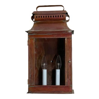 Wall Hanging Solid Copper Lantern For Sale